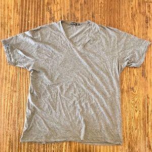 Mens Alternative Pima Cotton V-Neck Grey Size XXL